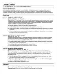 construction estimator resume - Construction Estimator Resumes