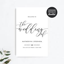 Booklet Program Template Wedding Program Booklet Template Printable Rustic Wedding