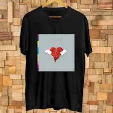 Kanye West 808s And Heartbreak Album Logo T Shirt Size S 3xl