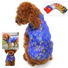 Lovelonglong 2019 Dog Costumes Cheongsam Qipao Dresses For Small Dogs Cats Pets Tang Dynasty Costume