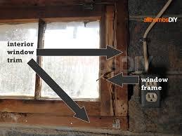 basement windows interior. Removing Old Window And Interior Wood Trim - Exposed Frames Basement Windows
