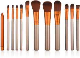 stellaire chern 12 pieces professional makeup brush set cosmetic brushes kit wooden handle