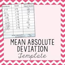 Mean Absolute Deviation Chart Mean Absolute Deviation Template