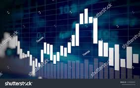Candlesticks On Forex Business Candle Stick Graph Chart Of