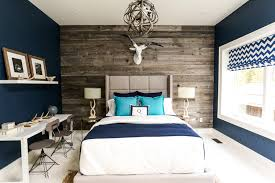 modern bedroom blue. Classy Wood Bed Background In White And Navy Blue Bedroom Theme At Magolla. Modern I