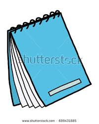 blue notebook cartoon vector and ilration hand drawn style isolated on white background