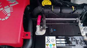 lightweight battery mount design and battery sourcing runs to fuse box 2012 fiat abarth