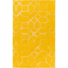 artistic weavers organic brittany bright yellow 4 ft x 6 ft indoor area rug