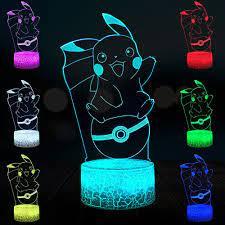 Con Số phim hoạt Hình Pokemon Trò Chơi Pikachu Bóng 3D Đèn USB USB DẪN Ánh  Sáng Ban Đêm Illusion Tâm Trạng Chiếu Sáng Nhà Deocr Trẻ Em Món…