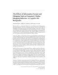 Research Design Online Shopping Pdf The Effects Of Information Format And Shopping Task On