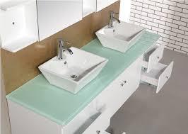 bathroom vanity countertops glass