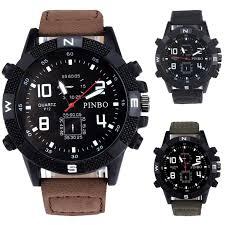online get cheap latest men watches aliexpress com alibaba group military watch 2017 latest men s watches luxury men s canvas strap large dial military sport quartz wrist
