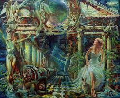 figure painting alice in wonderland by yury fomichev