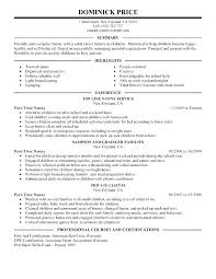 Babysitter Resume Sample Template Unique Professional Nanny Resume Sample Kappalab
