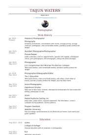 Photographer Resume Template Extraordinary Freelance Photographer Resume Samples VisualCV Resume Samples Database