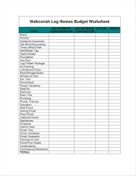 Free Home Budget Worksheet Template Ideasial Construction Budget Excel Luxury Cost
