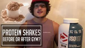 should i drink protein shake before or