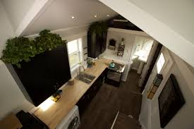 Small Picture Elegant Minimalist Tiny House On Wheels With Staircase High