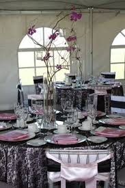 Minus the pink. And ivory with the black lace table covers