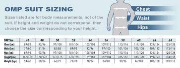 Omp Kart Suit Size Chart Omp Suit Size Chart