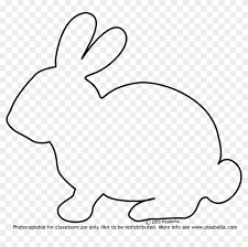 outline of bunny bunny rabbit bunny outline free transparent png clipart images