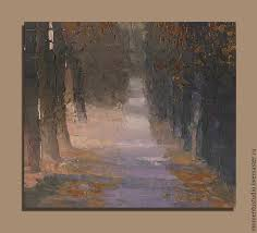 landscape handmade livemaster handmade autumn alley oil painting