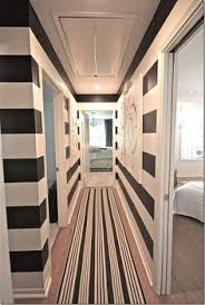 Medium Size Stripes create more Depth, and don't Close in on the Hallway