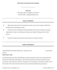 Sales Associate Resume Example Retail Resume Sales Associate Thrifdecorblog Com