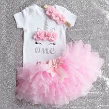<b>2019 Summer</b> Baby Girls 1st Birthday Lovely Outfit = <b>Unicorn</b> ...