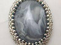 550 <b>Seed bead</b> cabochon pendant inspiration ideas | beaded ...