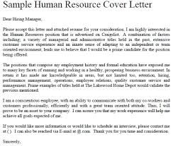 Interesting Sample Of Cover Letter For Human Resource Position 39