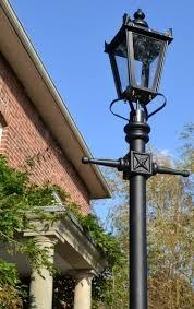 garden lamp post. Victorian Street Lamp Post Along Driveway Garden T