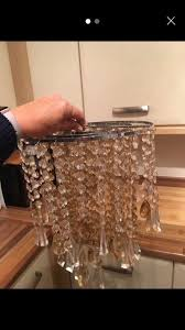 smoked and clear crystal easy fit next chandelier shade