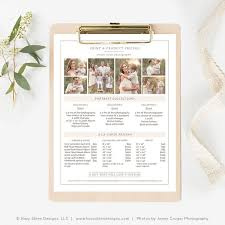 Pricing Template Photography Pricing Guide Template Photography Price List Template
