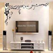 wonderful flower vine wall stickers for home tv background wall art 8461 diy black beautiful pattern design dropshipping large wall decals cheap large wall  on large wall art diy with wonderful flower vine wall stickers for home tv background wall art