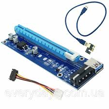 <b>Riser</b> USB 3.0 PCIe 1x к 16x PCI Express <b>Card Ver</b>.<b>006c</b> — в ...