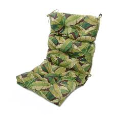 chair superb patio chair cushions high back green color leaves pattern polyester material tie uv and weather resistant chairs outdoor garden table