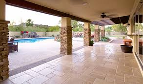 unique travertine paver patio