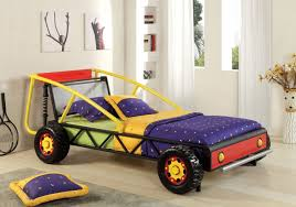 image of baja red yellow twin race car bed race car bed for kids for