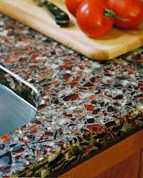 amazing recycled glass countertops with undermount sink for kitchen decoration ideas