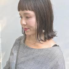 アラフォー40代に似合う前髪24選ぱっつん短い前髪や若返る髪型も