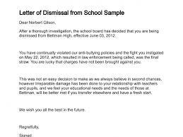 Sample Dismissal Letter Sample Employee Dismissal Letter Creating Resume References