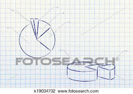 Business Stats Pie Chart Graph Stock Image K19034732
