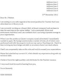 Cover Letter Template Uk No Experience Teaching Assistant