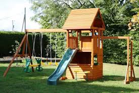 Ashberry II Play Centre  YouTubeBig Backyard Ashberry Wood Swing Set