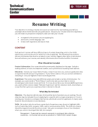Suggested Objectives For A Resume Resume For Study
