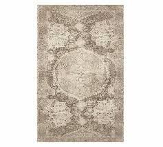 pottery barn barret neutral 8x10 printed area rug new