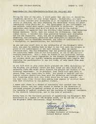 brigham and women s hospital archives opens time capsule pbbh 1963 time capsule letter from the pathologist gustave dammin md