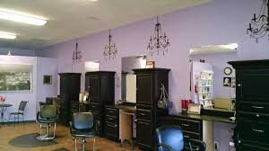 salon features chandelier wall stickers