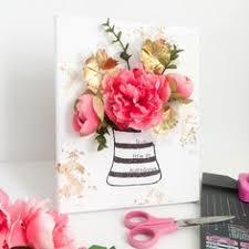 flower punch board canvas on 3d flower wall canvas art with 3 d floral canvas wall art floral wall art floral wall and walls